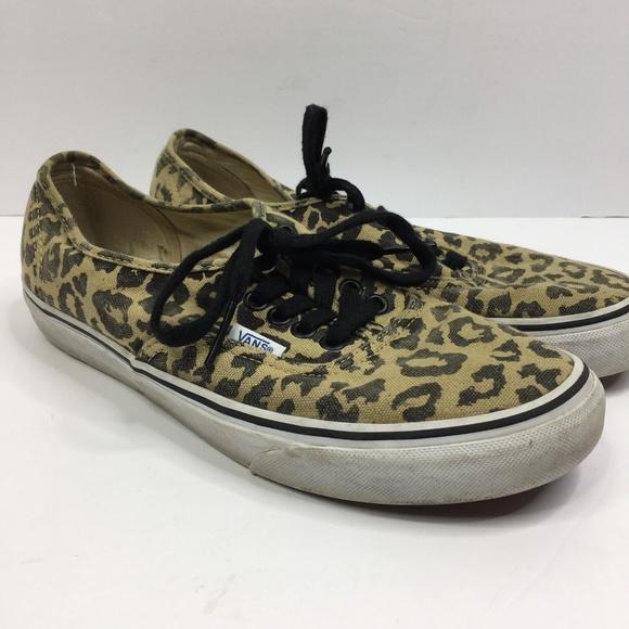 eff061a2b4 Vans Shoes Cheetah Leopard Print Lace Up Tan Brown.  M 5c07d1a17386bc809eebc89d